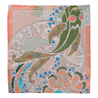 Sea of Peace Asian Folk Art Bandana