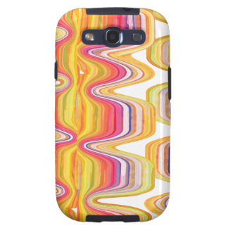 Sea of Red Colors  Pop Modern Abstract Marble Galaxy SIII Cover
