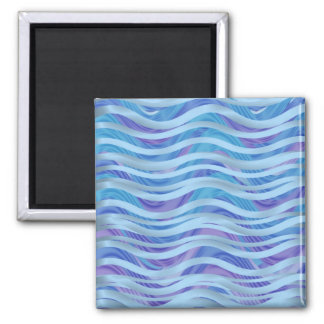 Sea of Ribbons in Blue & Purple Square Magnet