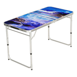 Sea of Serenity Beer Pong Table