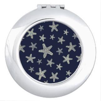 Sea Of Starfish Pattern Compact Mirrors