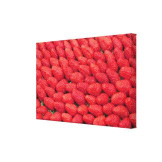 Sea of Strawberries Canvas Print