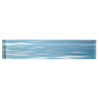 Sea of Tranquility Background Desk Nameplate
