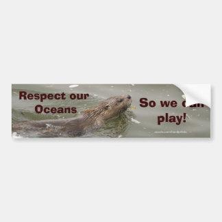 Sea Otter Anti-Pollution Bumpersticker Bumper Sticker