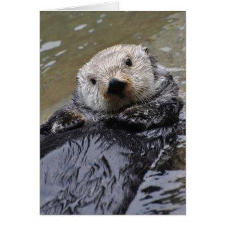 Sea Otter Frameable Art Card