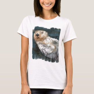 Sea Otter Ladies Fitted T-Shirt