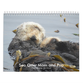 Sea Otter Mom and Pup Calendar #1