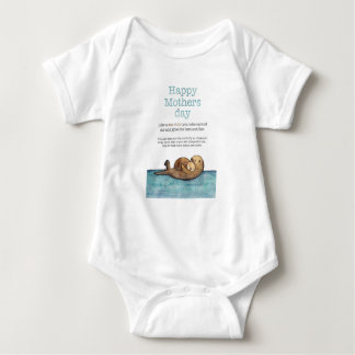 Sea otter mothers day baby bodysuit
