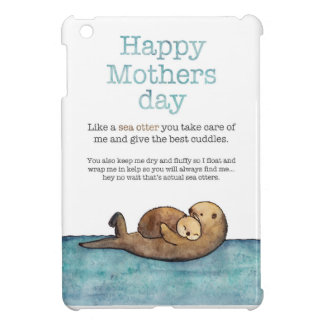 Sea otter mothers day cover for the iPad mini