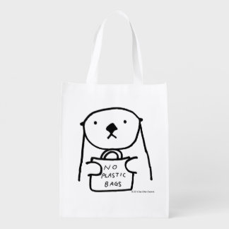 Sea Otter No Plastic Bags