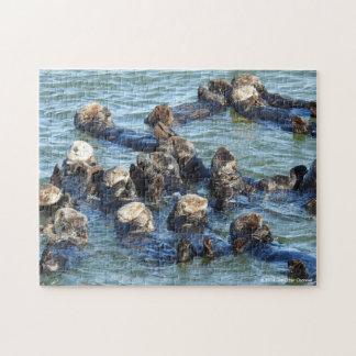 Sea Otter Raft Jigsaw Puzzle
