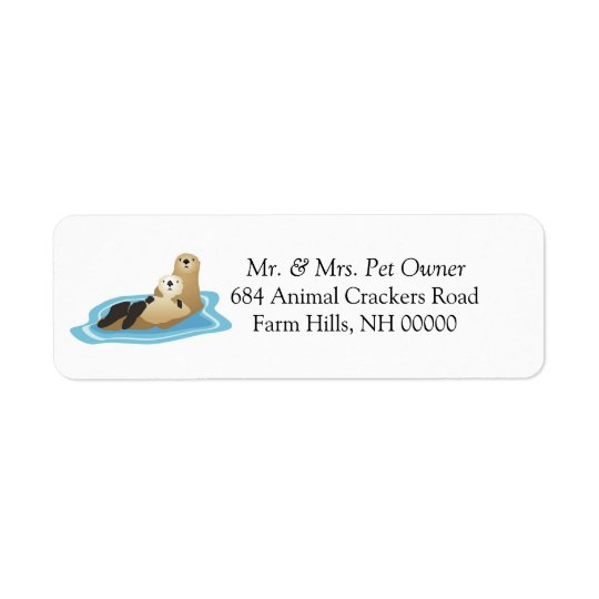Sea Otter Theme Return Address Labels Stickers