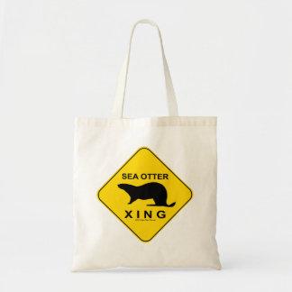 Sea Otter Xing Tote Bag