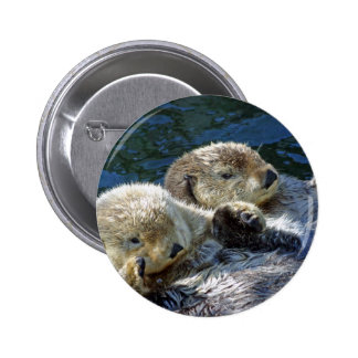 Sea-otters 6 Cm Round Badge