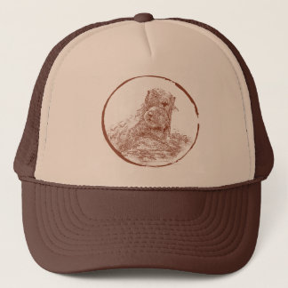 Sea Otters by EKLEKTIX Trucker Hat