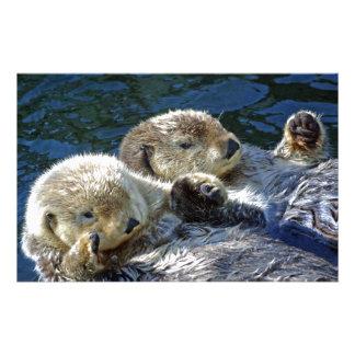 Sea-otters Customized Stationery