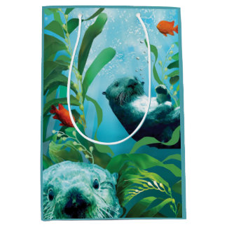Sea Otter's Garden Medium Gift Bag