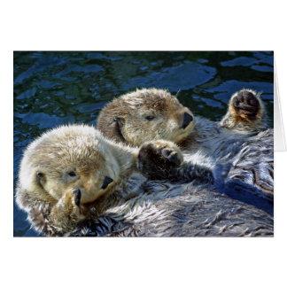 Sea-otters Greeting Card