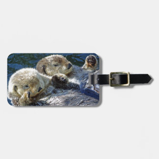 Sea-otters Luggage Tag