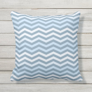 Sea-Outdoor Throw Pillow.Chevron ornament. Outdoor Cushion