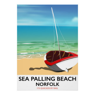 Sea Palling Beach Norfolk beach poster