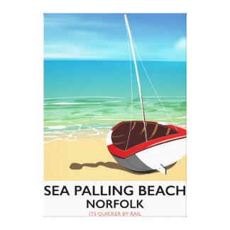 Sea Palling Beach Norfolk beach poster Canvas Print