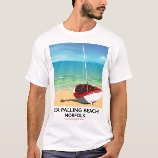 Sea Palling Beach Norfolk beach poster T-Shirt