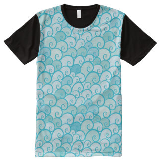 Sea Pattern All-Over Print T-Shirt