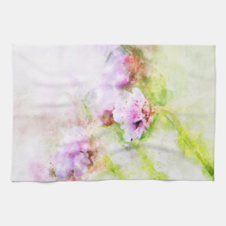 Sea Pink Flower Tea Towel