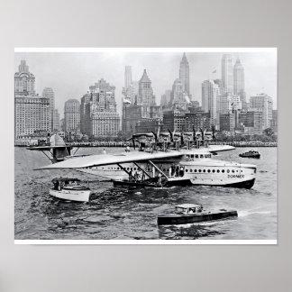 Sea Plane Visits the Big Apple Poster