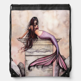 Sea Princess Fantasy Art Drawstring Bag