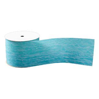 Sea's surface grosgrain ribbon