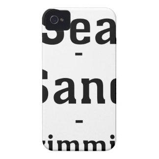 Sea - Sand - Swimming iPhone 4 Case-Mate Cases