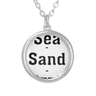 Sea - Sand - Swimming Silver Plated Necklace