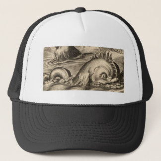 Sea Serpent Riding a Wave Trucker Hat