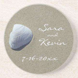 Sea Shell Beach Customizable Coasters