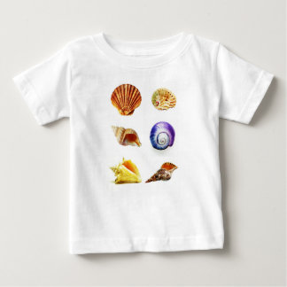 sea shell design bright and colourful baby T-Shirt