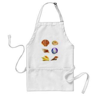 sea shell design bright and colourful standard apron