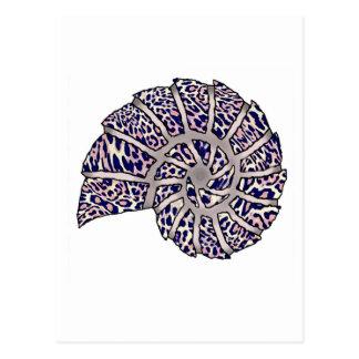 Sea Shell Digital Stencil Collage - 10 Postcards