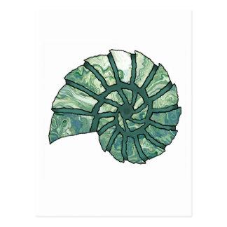 Sea Shell Digital Stencil Collage - 13 Postcard