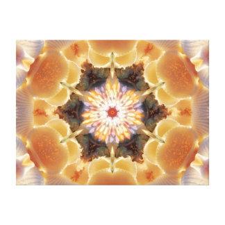Sea Shell Mandala Star Canvas Print