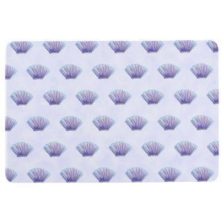 SEA SHELL PATTERN Pastel Lavender Watercolor Mat