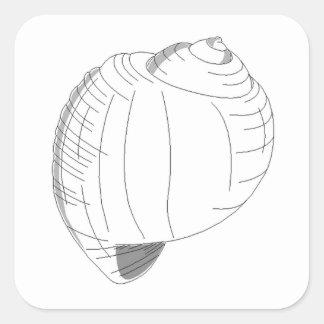 Sea Shell Sketch Sticker