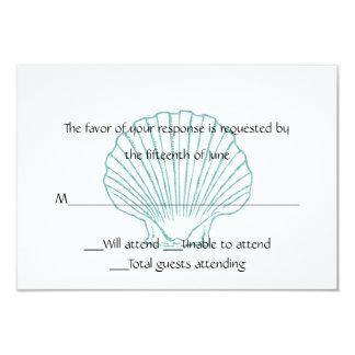 Sea Shell Wedding Response Card 9 Cm X 13 Cm Invitation Card