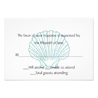 Sea Shell Wedding Response Card Personalized Invitations
