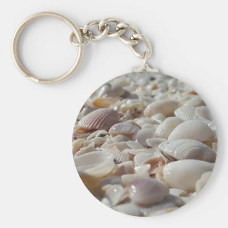 "Sea Shells 2.25"" Basic Button Keychain"