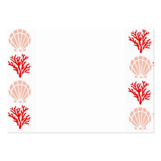 Sea Shells and Coral Business Card