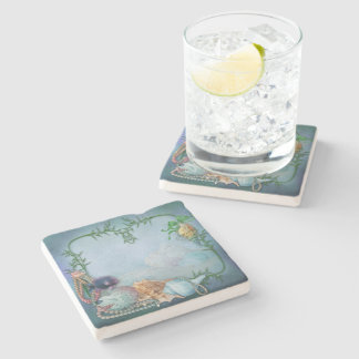 Sea Shells and Pearls Stone Coaster
