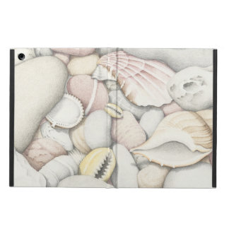 Sea Shells and Pebbles in Coloured Pencil iPad Air Cover