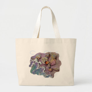 SEA SHELLS by SHARON SHARPE Large Tote Bag